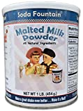 Soda Fountain Malted Milk Powder 1 lb. Canister - Malt Powder for Ice Cream and Baking