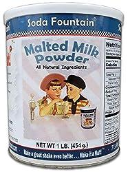 top 10 malt making machine Soda Fountain Malt Milk Powder 1 lb Canister – Malt Powder for Ice Cream and Baking