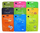 2 X Celavi Essence Facial Face Mask Paper Sheet Korea Skin Care Moisturizing 9 Pack (Total 18)
