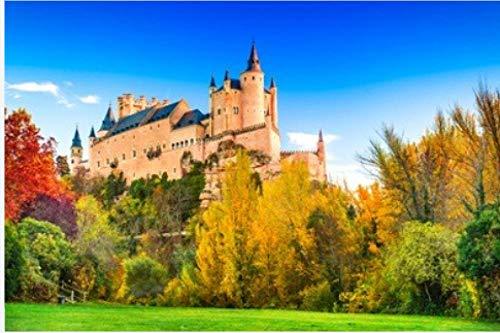 ZZXSY Puzzles Niños Segovia España. Alcázar De Segovia Construido sobre Una Roca Rocosa Construida En 1120. Castilla Y León Apto
