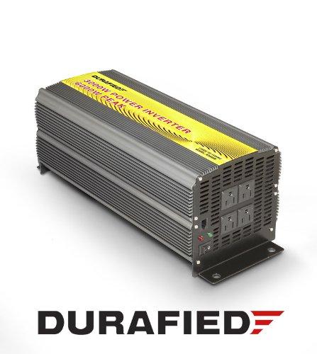 3000W High Efficiency Power Inverter (6000 Watt Peak) 12V DC to 120V AC for Car, Boat, RV, Solar Power Supply w/Heavy Duty Cables, 5yr Warranty