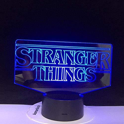 Lámpara De Ilusión 3D Luz De Noche Led The Stranger Things Programa De Televisión Precioso Regalo De Bebé Para La Habitación Funciona Con Pilas Los Mejores Regalos De Vacaciones De Cumpleaños
