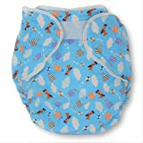 Rearz - Bulky Fitted Nighttime Cloth Diaper (Blue - Airplanes) (Small/Medium)