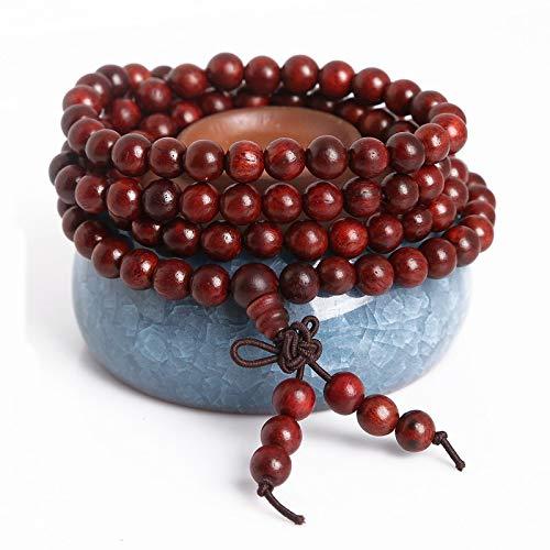 De meerlagige armband van de wierook Boeddha kralen voor mannen en vrouwen met kippenvleugels en houten kralen Cliff Cypress Boeddha kralen Hand String
