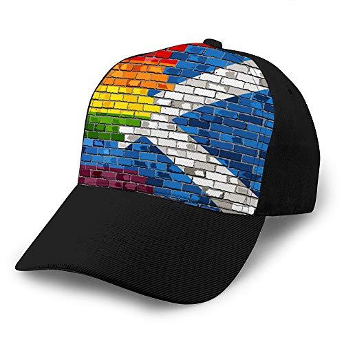 Klassische Mütze aus 100 % Baumwolle, Unisex, Mode, Baseball-Kappe, verstellbar, Hip Hop-Mütze, Ziegelmütze, Schottenmützen, Flaggen
