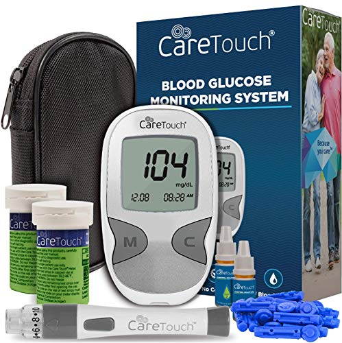 Care Touch Diabetes Testing Kit – Care Touch Blood Glucose Meter, 100 Blood Test Strips, 1 Lancing Device, 30 gauge Lancets-100 count and Carrying Case