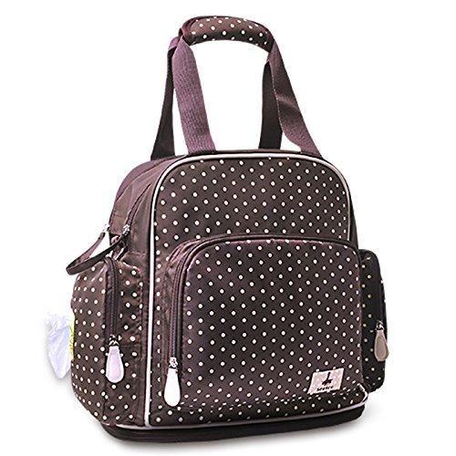 Sac mamelon, sac multifonctionnel à grande capacité, sac maternel et enfant, sac à dos, femme enceinte femme enceinte ( Couleur : Marron )