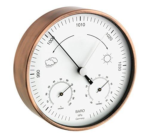 TFA Dostmann Analoge Wetterstation, für innen und außen, wetterfest, Barometer, Thermometer, Hygrometer, zur Wettervorhersage