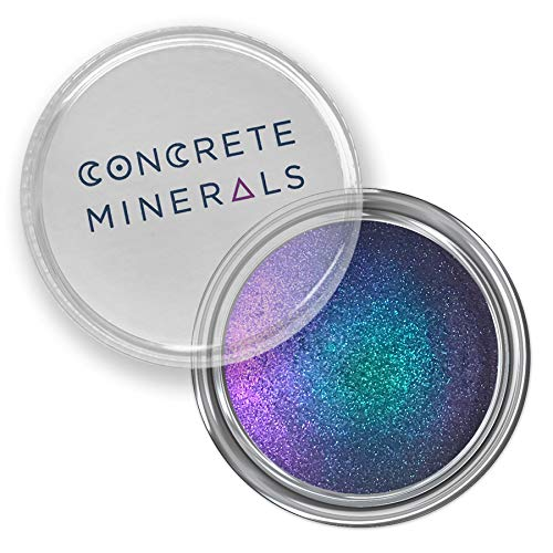 Concrete Minerals MultiChrome Eyeshadow, Intense Color Shifting, Longer-Lasting With No Creasing, 100% Vegan and Cruelty Free, Handmade in USA, 1.5 Grams Loose Mineral Powder (Mystique)