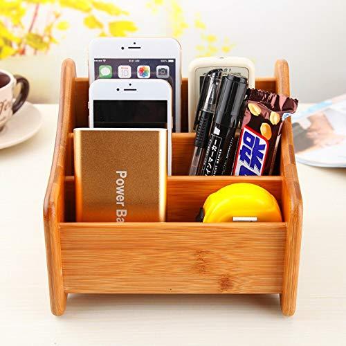 Desktop-Fernbedienung Aufbewahrungsbox Retro Bambus Holz Büro Wohnzimmer Couchtisch Schmuck Kosmetik Lagerregal