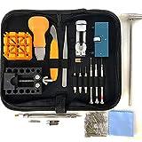 HAOBAIMEI 168 PCS Watch Repair Kit Professional Spring Bar Tool Set,Watch Battery Replacement Tool Kit,Watch...