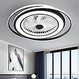 Smilvy Ventilador Techo con iluminación LED, Moderno Ventilador luz Techo con Control Remoto, ventiladora lámpara Velocidad Viento Ajustable Regulable, para Sala Estar Dormitorio Restaurante