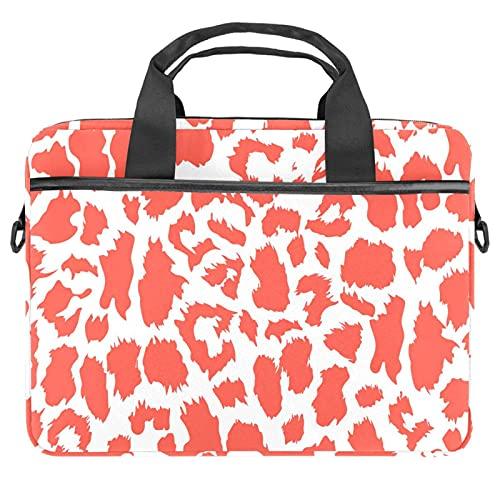 MEITD Sacoche pour Ordinateur Portable 13.4-14.5 Pouces Sac à Main Porte-Documents à Bandoulière Housse et Femme Mallette Laptop Bag Zèbre rose