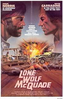 ArtFuzz Lone Wolf McQuade 11 x 17 Movie Poster - Style A