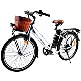 Speedrid 26' Electric Bike for Women, Electric Commute Bicycle with 250W...