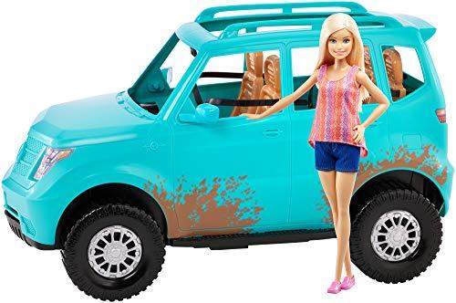 Mattel Barbie Acampada-Muñeca con Coche de Juguetes +3 años, Multicolor FGC99