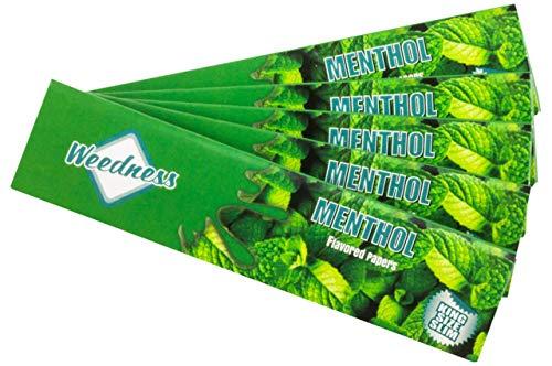 Weedness Long-Papers met smaak King Size 5 boekjes menthol kleurrijke papier lang - blunt papier met smaak rookpapier
