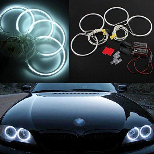 QiuKo Super Bright 4pcs 131.5mm CCFL Angel Eyes Halo Rings Kit 6000K 16W CCFL For E36 E46 E39 E38