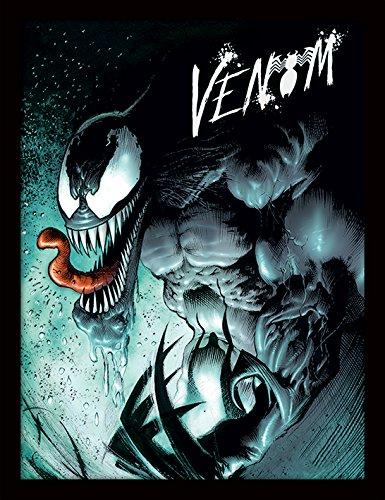 Pyramid International Marvel Extreme (Venom) 30x40 cm ingelijste druk, 250GSM PAPERWRAP MDF, meerkleurig, 44 x 33 x 4 cm