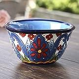 CAIJINJIN Tazón Platos, vajilla de cerámica, placas de solomillo, Ensalada plato pintado a mano de...