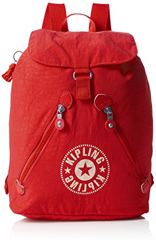 Kipling Damen FUNDAMENTAL NC Rucksack, Rot (Lively Red), 42x42x16.5 cm