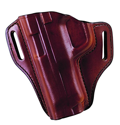 BIANCHI 57 Remedy, Deeply Molded, Low-Profile, Hi-Ride, Open-Top Premium Leather Holster, Black, Left Hand, Glock 19, 23, 32