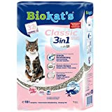 Biokat's Classic fresh 3in1 mit Babypuder-Duft - Klumpende Katzenstreu mit 3 unterschiedlichen Korngrößen - 1 PE-Sack (1 x 10 L)