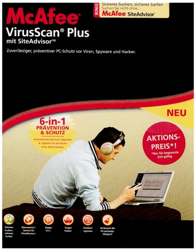 McAfee VirusScan Plus 2008 - Half Price German Windows XP/2000/Vista [import allemand]