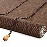 Persianas Enrollables de Bambú Retro,Estor de Bambú con Ganchos,50% UV Protección Filtr...