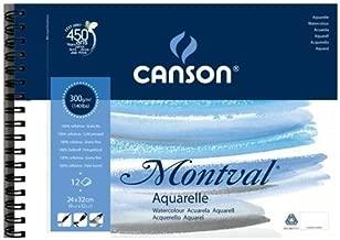 Bloco de Papel Para Aquarela Montval Canson A4 300g/m² Com Espiral