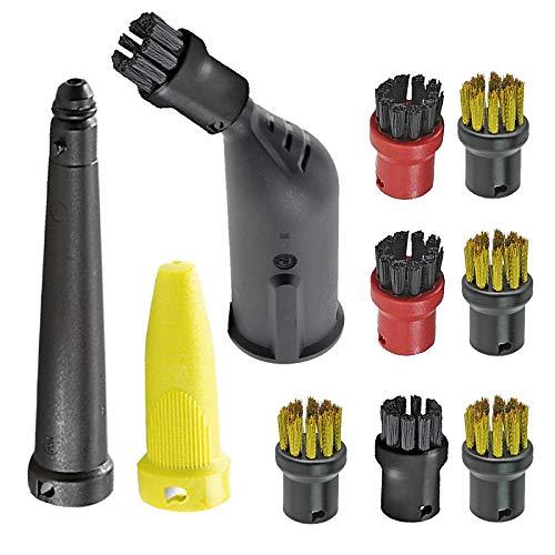 SPARES2GO Handgereedschap Mondstuk Set + Borstels voor Karcher Easyfix SC1 SC2 SC3 SC4 SC5 Series Stoomreiniger