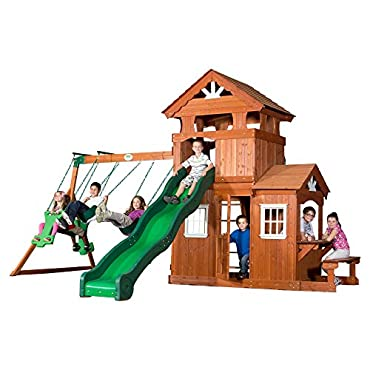 Backyard Discovery Shenandoah All Cedar Wood Playset Swing Set 65413