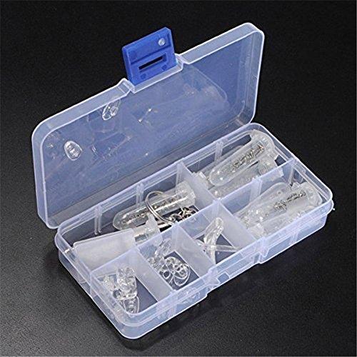BKAUK Optisches Reparatur-Set für Brillen, Schraubenmutter, Nasenpolster, langlebiges Brillen-Set