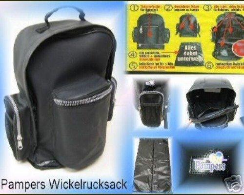 Pampers Wickelrucksack inkl. Wickelunterlage