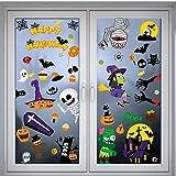 Myir JUN Pegatinas Halloween, Pegatinas Infantiles Halloween Pegatinas Ventana Halloween Estáticas Impermeables Window Clings Halloween Niños de Decoracion Halloween Calcomanías