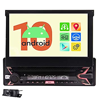 EinCar Android 10.0 Car Stereo 7 inch Touchscreen Radio with Bluetooth GPS Navigation System Auto Radio Receiver 1 Din Headunit 1G RAM+32G ROM Support WiFi Mirror Link FM/AM/RDS SWC + Back up Camera