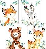 Lalelu-Prints 4er Set Poster Kinderzimmer Deko Junge