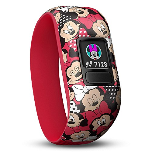 Garmin 010-01909-42 vivo fit jr. 2 Activity Tracker - Stretchy Band w/Extra Black Band, Disney Minnie Mouse + Black