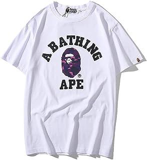 NUOVO Bape a Bathing Ape FASHION Camo con Zip Modello Girocollo Manica Corta T-shirt
