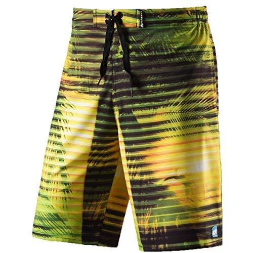 Firefly Janek Swimshorts Herren Badehose Badeshort Hose Bermuda Boardshort, Größe:S;Farbe:Yellow Light