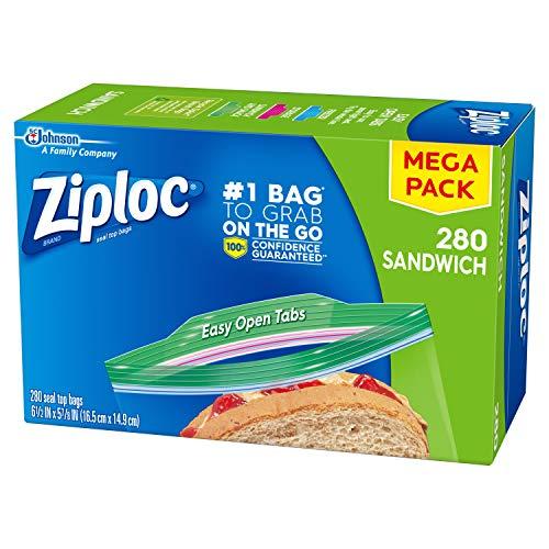 Ziploc Sandwich Bags, 280 ct