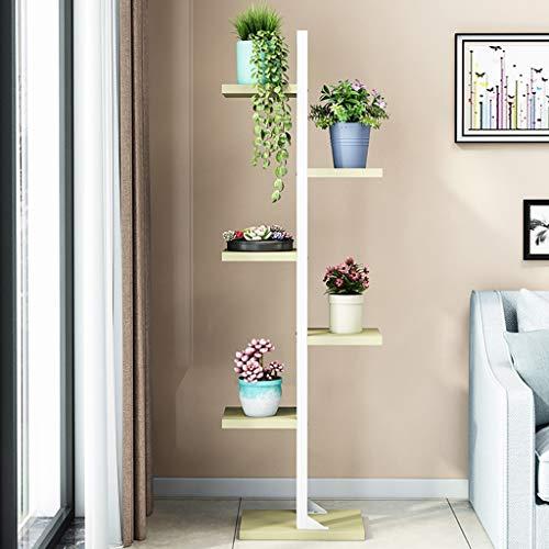 Support de fleur en métal 5ème étage Fer multi-couches intérieur Landing Espace gainé de fleurs étagère salon Porte-pot de fleurs
