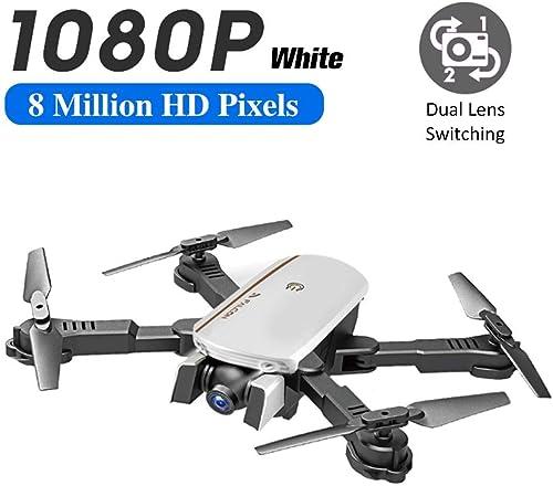 funnyfeng Drohne Mit Kamera HD 1080P Live übertragung WiFi FPV RC Quadrocopter Sprachsteuerung Gravitationssensor Flugbahnflug KopflosModus H halten 3D Flips Notlandung RC Drohne Für Anf er