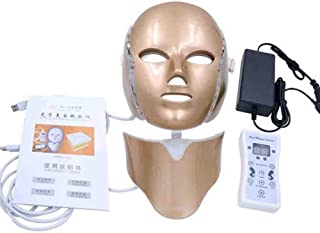 7 Color LED Light Therapy Mask with Neck Acne Treatments Activate Collagen Skin Rejuvenation Facial Care Gpld