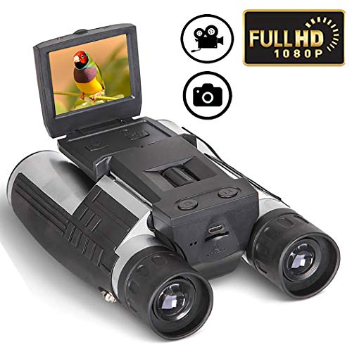 LQUYY Digital Fernglas Camera Telescope Camera LCD Monitor 12x32 1920 * 1080 Auflösung Video Recorder Bird Watching Football Match Concert