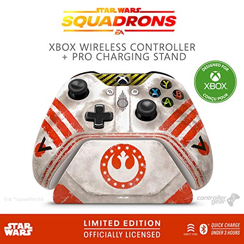 Controller Gear Star Wars: Squadrons, Xbox Wireless Controller + Pro Charging Stand Bundle for Xbox-Limited Edition-Officially Licensed By Xbox, Disney, Lucasfilm Ltd. - Xbox One