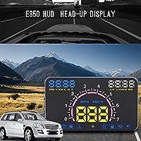"""5.8"""" HUD ヘッドアップディスプレイ 車用 スピードメーター ウインドシールド プロジェクション フィルム 反射フィルム付き OBD2/EOBDインターフェイス GPS KMH MPH"""