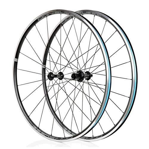 TYXTYX Juego de Ruedas para Bicicleta de Carretera 700C V- Freno Ruedas de Bicicleta 622 / 17c Llanta de aleación de Doble Pared 21 mm Buje de rodamiento Sellado con Cierres rápidos 8-11 velocidade