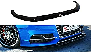 Maxton Design Front Splitter Compatible with Audi S3 8V (Sedan, Cabrio) / Audi A3 8V S-Line