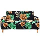 Funda de sofá con estampado floral para sofá de esquina, antideslizante, protector de sillón, 2 plazas